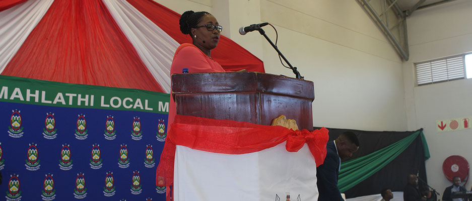 Her Worship The Mayor of Amahlathi Local Municipality Councillor Pateka Qaba Delivered her first State of the Municipal Address on Friday 28 July 2017 at Mlungisi Community Commercial Park.​